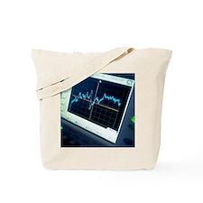 Oscilloscope trace Tote Bag