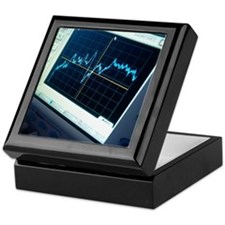 Oscilloscope trace Keepsake Box