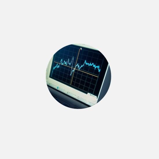 Oscilloscope trace Mini Button