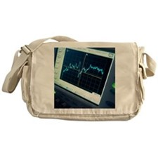 Oscilloscope trace Messenger Bag