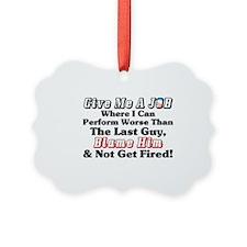 Blame Obama! Ornament