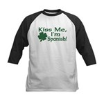 Kiss Me I'm Spanish Kids Baseball Jersey