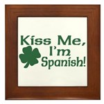 Kiss Me I'm Spanish Framed Tile