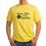 Kiss Me I'm Spanish Yellow T-Shirt