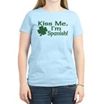 Kiss Me I'm Spanish Women's Light T-Shirt