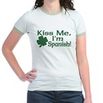 Kiss Me I'm Spanish Jr. Ringer T-Shirt