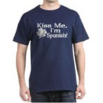 Kiss Me I'm Spanish Dark T-Shirt
