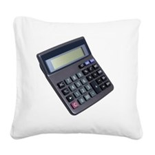 Close up of a calculator Square Canvas Pillow