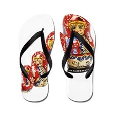 Close up view of Russian dolls in diffe Flip Flops