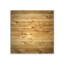 "Wood Fence Square Sticker 3"" x 3"""
