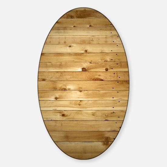 Wood Fence Sticker (Oval)