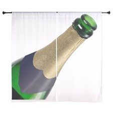 """Close up of a bottle of wine 60"""" Curtains"""