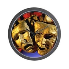 Close-up of tragedy and comedy mask Wall Clock
