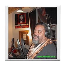 Ike Willis in Studio with Zappa - Tile Coaster