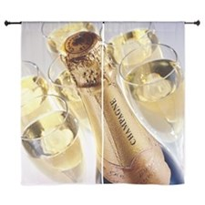 """close-up of a champagne bottle and gl 60"""" Curtains"""