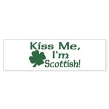 Kiss Me I'm Scottish Bumper Bumper Sticker