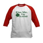 Kiss Me I'm Scottish Kids Baseball Jersey