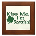Kiss Me I'm Scottish Framed Tile