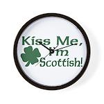 Kiss Me I'm Scottish Wall Clock