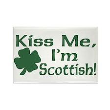 Kiss Me I'm Scottish Rectangle Magnet