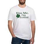 Kiss Me I'm Scottish Fitted T-Shirt