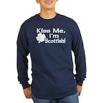 Kiss Me I'm Scottish Long Sleeve Dark T-Shirt