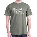 Kiss Me I'm Scottish Dark T-Shirt