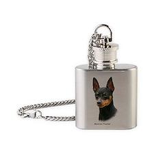 Miniature Pinscher 8A083-13 Flask Necklace