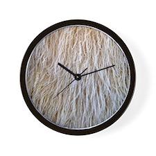 White Fur Wall Clock