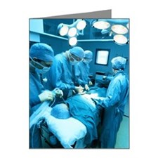 a group of doctors operating Note Cards (Pk of 20)