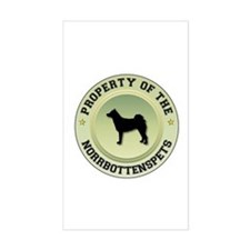 Norrbottenspets Property Rectangle Decal