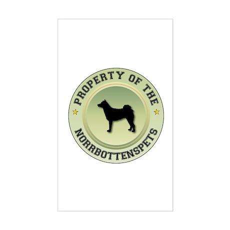 Norrbottenspets Property Rectangle Sticker