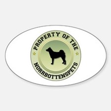 Norrbottenspets Property Oval Decal