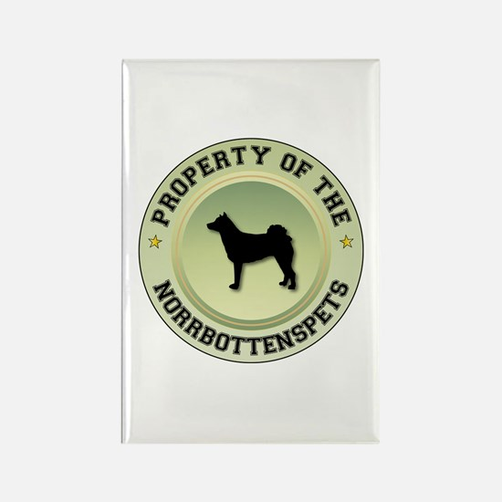 Norrbottenspets Property Rectangle Magnet (100 pac