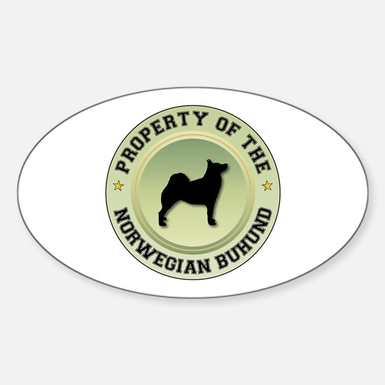 Buhund Property Oval Decal