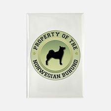 Buhund Property Rectangle Magnet