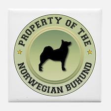 Buhund Property Tile Coaster