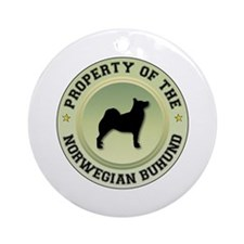 Buhund Property Ornament (Round)