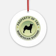 Buhund Property Ornament (Round)