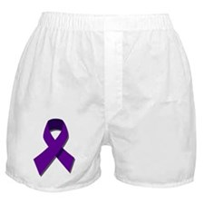Purple Ribbon Boxer Shorts