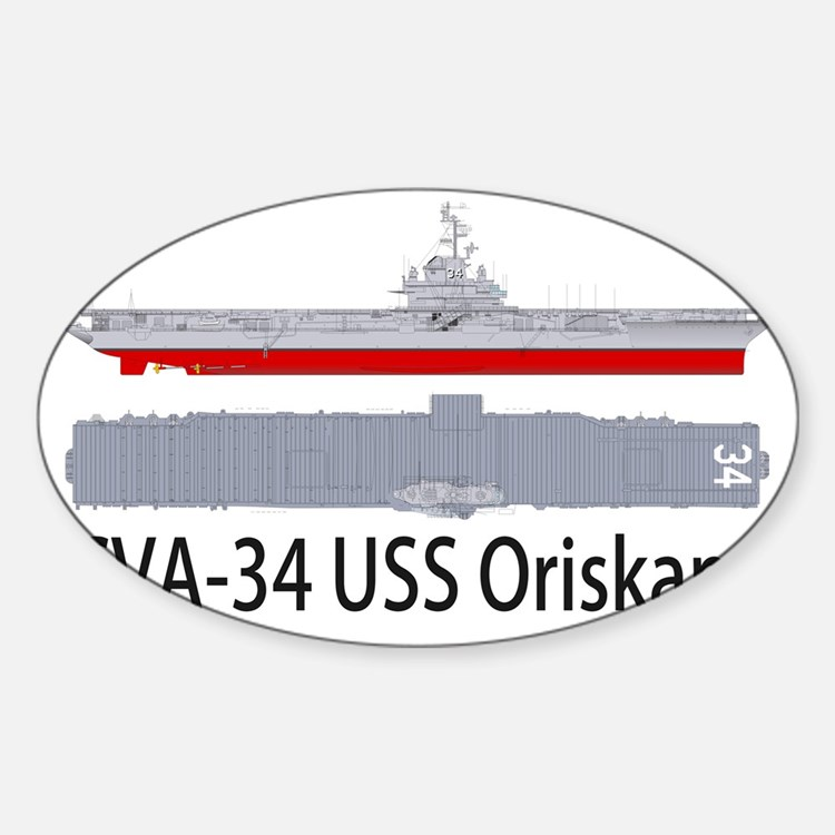 USS Oriskany CV-34 Sticker (Oval)