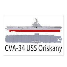 USS Oriskany CV-34 Postcards (Package of 8)
