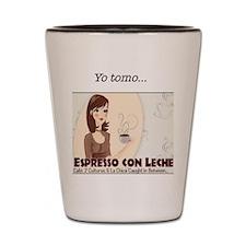 Yo Tomo Espresso con Leche Shot Glass