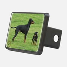 Manchester Terrier and pup Hitch Cover