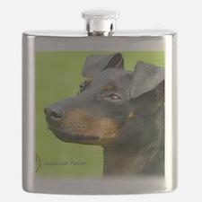 Manchester Terrier 8W13D-12_2 Flask