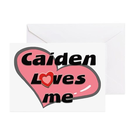 caiden loves me Greeting Cards (Pk of 10)