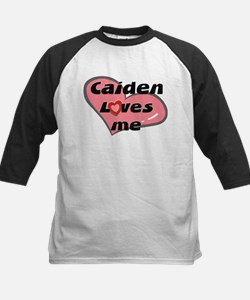 caiden loves me Kids Baseball Jersey