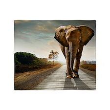 Big Elephant Throw Blanket