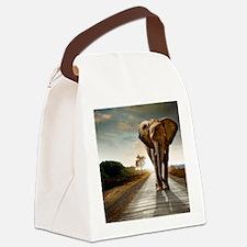 Big Elephant Canvas Lunch Bag