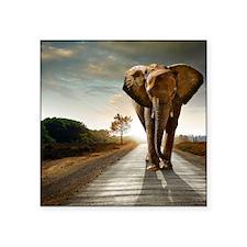 "Big Elephant Square Sticker 3"" x 3"""